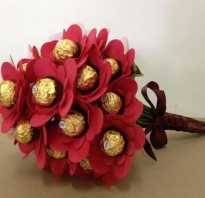 Букет из конфет на 8 марта своими руками. Видео мастер-классы