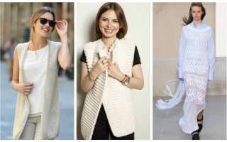 Зимние модели вязаной женской одежды
