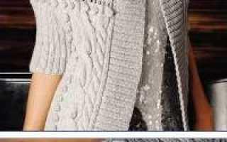 Ажурный шарф крючком «Версаль». Схема