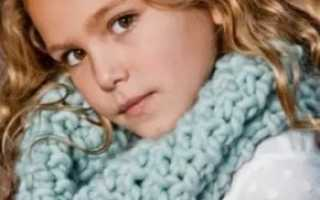 Как украсить шарфик из ткани с помощью вязания?
