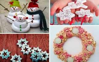 Новогодние детские поделки: елочные игрушки своими руками из соленого теста