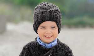 Вязаные шапки для мальчиков спицами