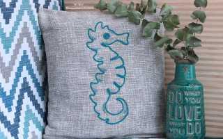Чайная вышивка для кухни декоративными швами. Схема