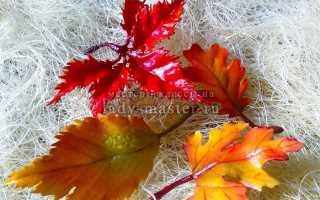 Брошь своими руками «Осенний лист» из полимерной глины