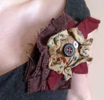 Текстильный кулон ручной работы