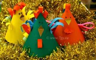 Новогодняя открытка «Петушок» своими руками. Мастер-класс