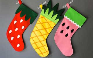 Рождественский носок своими руками. Выкройка