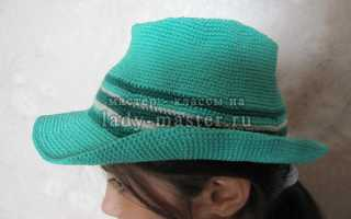 Шляпа-федора крючком. Мастер-классы