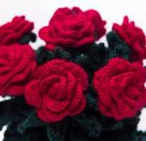 Вязаные объёмные цветы крючком. Видео мастер-классы