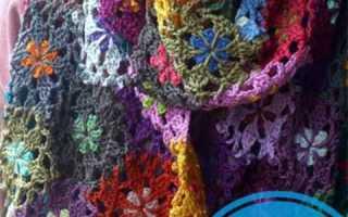 Вязаный шарф-цепочка