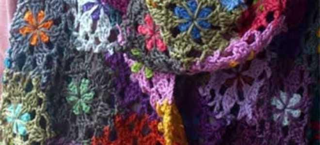 Простой шарф крючком из воздушных петель. Мастер-класс