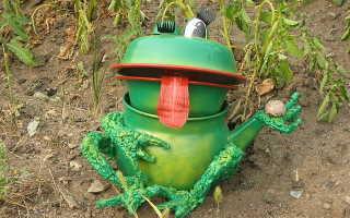 Садовая скульптура своими руками: лягушки. Мастер-класс