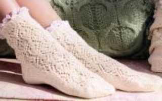 Техника вязания носков на двух спицах