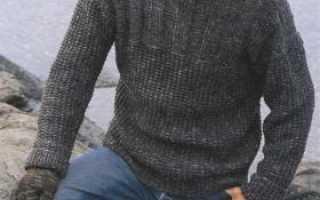 Пуловер спицами с фактурным узором. Описание
