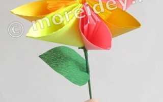 Складываем цветы в технике оригами
