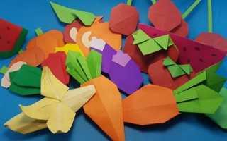 Банан из бумаги в технике оригами. Мастер-классы