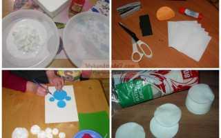 Мастерим с детьми: аппликация «Снеговик»