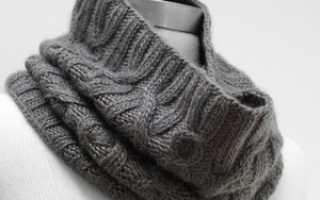 Как связать шарф-воротник спицами. Описание