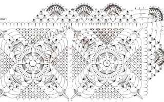 Салфетка крючком — 5 весенних дизайнов