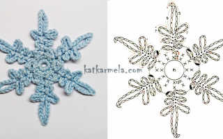 Новогодние снежинки крючком: схемы для вязания