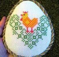 Пасхальная вышивка декоративными швами: яйца. Схема