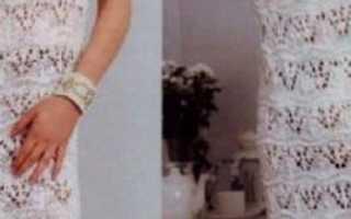 Вязаные летние платья спицами. Схемы