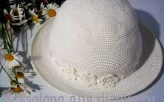 Учимся вязать летнюю шляпку крючком
