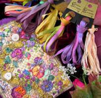 Вышивка ландышей декоративными швами. Мастер-класс