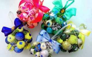 Поделки из елочных шаров — 5 доступных идей