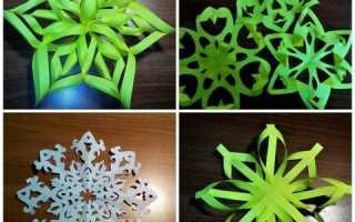 Как сделать снежинки из бумаги. Мастер-класс