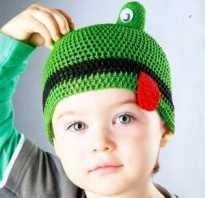 Простая шапка крючком для мальчика