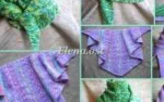 Как связать бактус или треугольный шарф-платок? Описания и мастер-классы