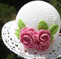 Вязаные летние шапочки для девочек крючком