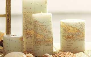Как сделать декупаж свечи своими руками к 8 марта